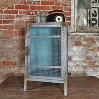 Brushed And Mesh Steel Storage Unit