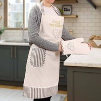 Personalised Apron And Oven Glove Gift Set