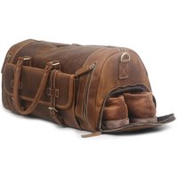 Genuine Leather Boot Bag With Front Pocket