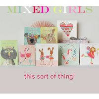 Mixed Set Of Girls Cards