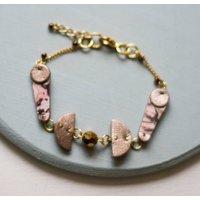 Lunar Moon Marbled Leather Cutout Shape Bracelet