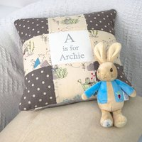 Peter Rabbit Alphabet Cushion