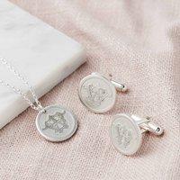 Bespoke Wedding Monogram Necklace And Cufflink Set