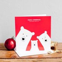 Build Your Own Bear Family Christmas Card