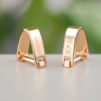 Personalised Rose Gold Wrap Style Cufflinks, Gold