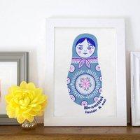 Russian Doll Personalised Art Print