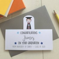 Personalised Boy's Graduation Card