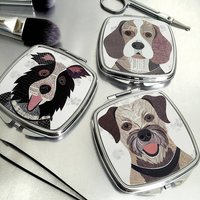 Dog Compact Mirror 64 Breed Designs