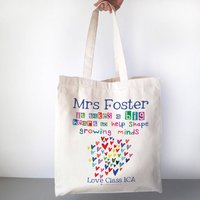 Personalised Growing Minds Teacher Bag