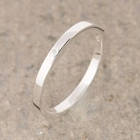 Silver June Birthstone Stacking Ring, Moonstone, Silver