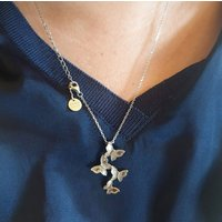 Butterfly Necklace Cascading Butterfly Count