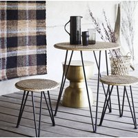 Rattan Table And Stool Set