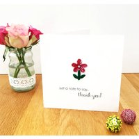 A Hand Embroidered Thank You Card