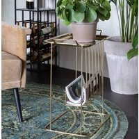 Gold Tray Table With Magazine Holder