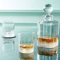London Skyline Glass Decanter And Tumblers
