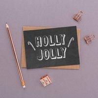 'Holly Jolly' Chalkboard Christmas Card