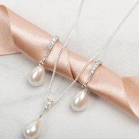 Bridal Pearl Jewellery Necklace Earrings