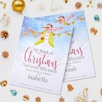 Christmas Nursery Rhymes And Personalised Poems Book