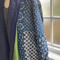 Long Reversible Kantha Coat