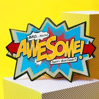 'Awesome Bro' Comic Cracker Card