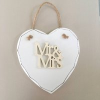 Handmade Mr And Mrs Hanging Sign