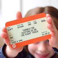 Personalised Train Ticket Wallet Keepsake For Dad