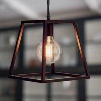 Black Trapeze Pendant Light