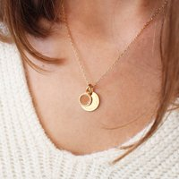 Personalised Enamel Pendant Necklace