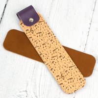Musical Notes Leather Bookmark