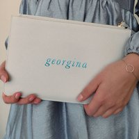 Personalised Name Clutch Bag Pouch