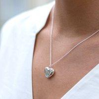 Solid Silver Heart Locket, Silver