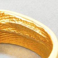 Gold Fingerprint Ring * Cast From Your Partners Finger, Gold