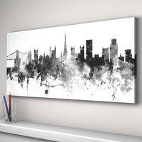 Bristol England Skyline Cityscape Black White, Black/White