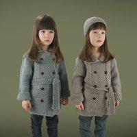 Girls Handmade Double Moss Coat