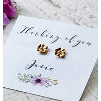 Flower Stud Earrings Personalised Thinking Of You
