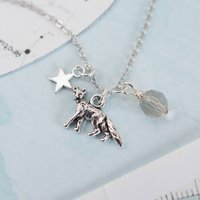 Silver Fox Charm Necklace, Silver