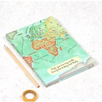 You Are My World Personalised Map Notebook