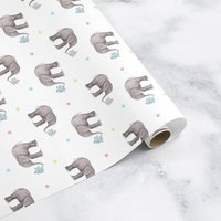 Elephant Kids Wrapping Paper Roll Or Folded