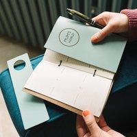 Modern World Personalised Leather Diary Organiser