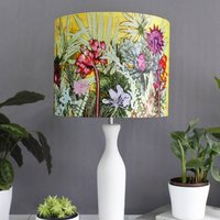 Tropical Sunshine, Exotic Yellow And Pink Lampshade