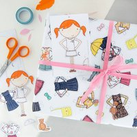 Clara Paper Doll Wrapping Paper Set