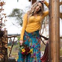Sari Silk Tiered Skirt/Dress