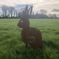 Rusty Metal Rabbit Garden Decoration Ornament