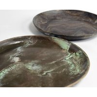 Large Handmade Ceramic Marble Plate 22cm