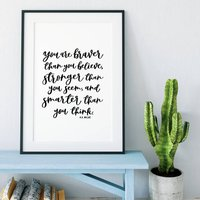 You Are Braver Than You Believe Print