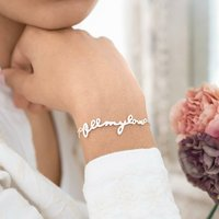 Personalised All My Love Bracelet, Silver/Rose Gold/Rose