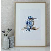 Kingfisher Watercolour Art Print