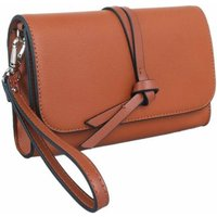 Knotted Tassel Cross Body Bag In Brown