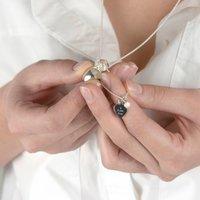 Personalised Silver Secret Charm Birthstone Locket, Silver