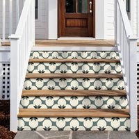 Moss Green Stair Riser Stickers Pack Of Six